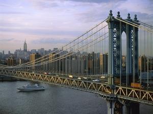 Brooklyn Bridge and Manhattan by Jos? Fuste Raga