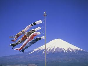 Japan: Mount Fuji and windsocks by Jos? Fuste Raga