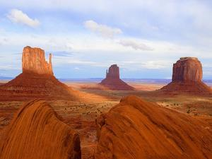 Mitten Buttes and Merrick Butte in Monument Valley by Jos? Fuste Raga