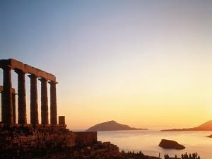 Ruin of the Poseidon temple in Attica (Greece) by Jos? Fuste Raga