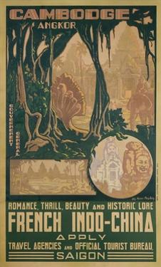 Cambodge Angkor Poster by Jos Henri Ponchin