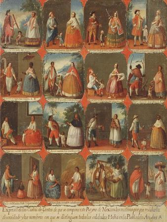 Castas, A View of the Various Peoples of Mexico, Mexican School, 18th Century