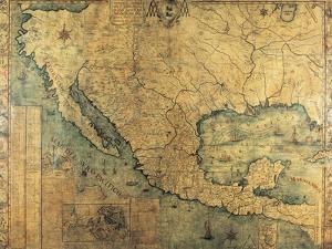 Map of Nueva Espana by Jose Antonio Alzate