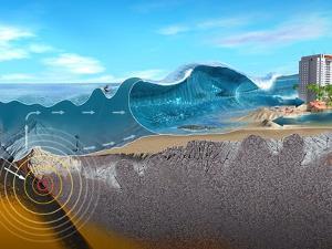 Underwater Earthquake And Tsunami by Jose Antonio