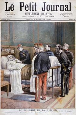 The French Minister for War Giving a Military Decoration, 1894 by Jose Belon