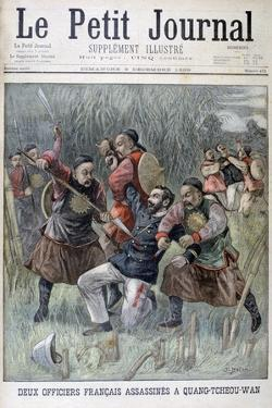 Two French Officers Murdered by the Quang-Tcheou-Wan, 1899 by Jose Belon