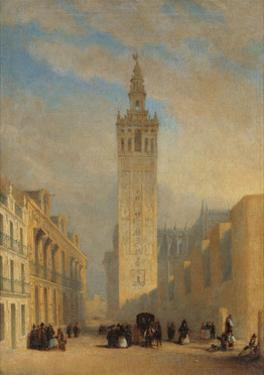 The Giralda Seen from Calle Placentines by José Domínguez Bécquer