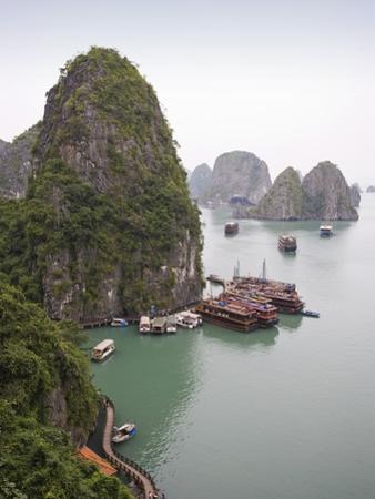 Boats in Halong Bay in Vietnam by José Fuste Raga