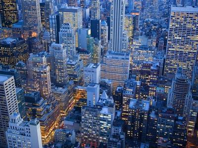 Midtown Manhattan at Dusk by José Fuste Raga