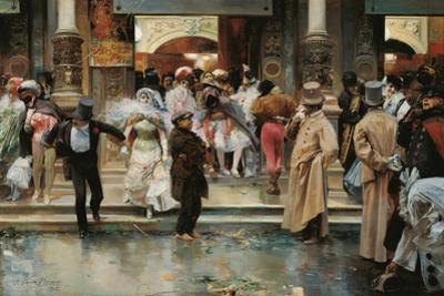 Leaving the Masqued Ball by José García y Ramos