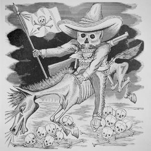 Calavera Zapatista, C.1910 (Engraving) by Jose Guadalupe Posada