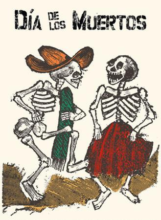 Mexico - Dia de los Muertos (Day of the Dead) - Dancing Skeletons by Jose Guadalupe Posada
