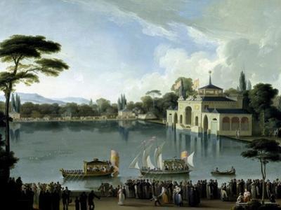 Embarque Real En El Estanque Grande Del Retiro, Ca. 1820 by Jose Ribelles