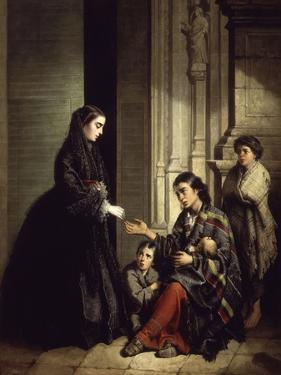 The Charity, 1857 by Jose Roldan