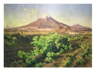 A Small Volcano in Mexican Countryside, 1887