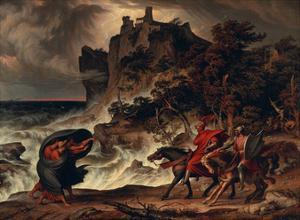Landscape with MacBeth and the Witches, 1829 by Josef Anton Koch