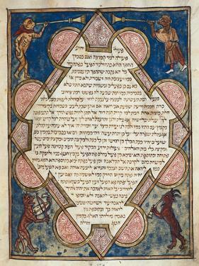 Animal Musicians from Jewish Cervera Bible by Josef Asarfati
