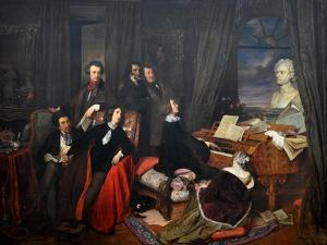 Franz Liszt Fantasizing at the Piano, 1840 by Josef Danhauser