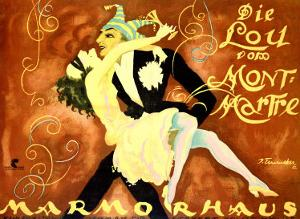 Carnival at Marmorhaus by Josef Fenneker