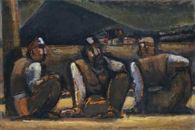 Three Miners by Josef Herman