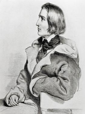 Franz Liszt in 1838 by Josef Kriehuber