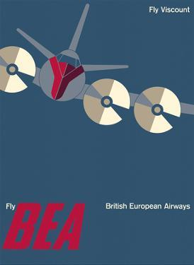 Fly Vickers Viscount - British European Airways (BEA) by Josef Muller Brockman
