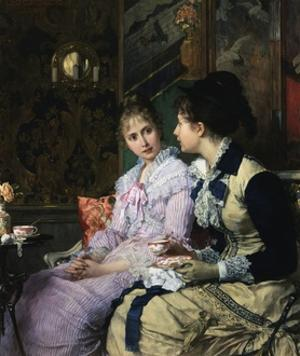 Ladies Taking Tea by Josef Scheurenberg