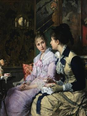 Ladies Taking Tea by Josef Scheurenberg