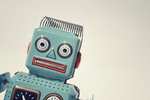 Vintage Tin Toy Robot by josefkubes