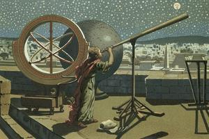 Hipparchus in the Observatory in Alexandria by Josep or Jose Planella Coromina