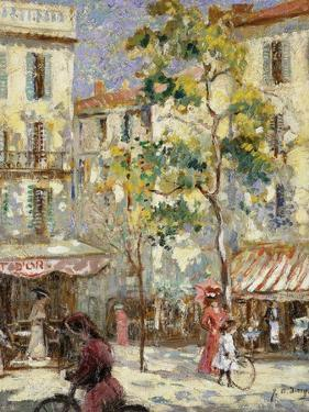 Paris Street Scene by Joseph Alfred Terry