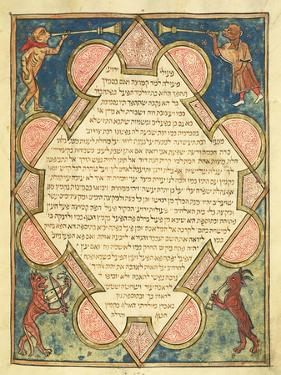 Animal Musicians, Illustration from the Jewish Cervera Bible, 1299 by Joseph Asarfati