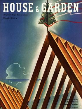 House & Garden Cover - March 1936 by Joseph Binder