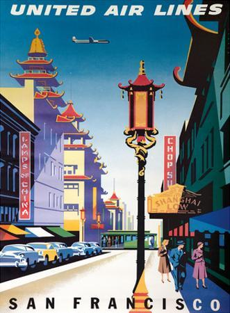 San Francisco, USA - China Town - United Air Lines by Joseph Binder