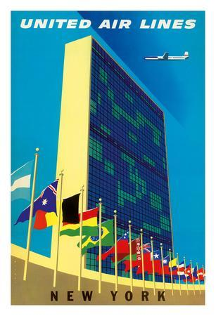 United Nations Building, New York - United Air Lines