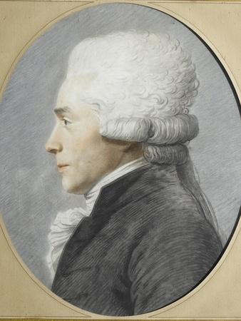 Portrait en buste de profil de Maximilien de Robespierre représenté en costume de député du