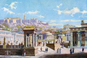 The Agora Below the Acropolis, Athens, Greece, 1933-1934 by Joseph Buhlmann