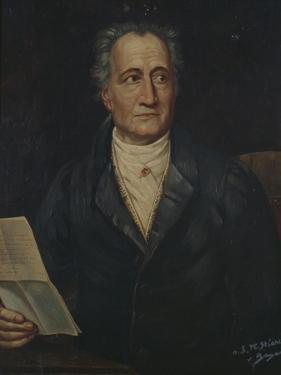 Portrait of German Writer Johann Wolfgang Von Goethe, Painted by Bayer, Late 19th Century by Joseph Carl Stieler
