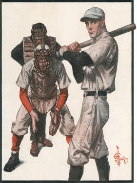 Baseball, 1915 by Joseph Christian Leyendecker