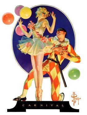 """Carnival,""February 25, 1933 by Joseph Christian Leyendecker"
