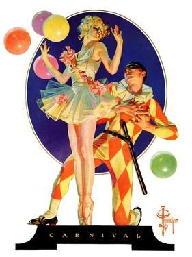 """Carnival,""February 25, 1933 by Joseph Christian Leyendecker"