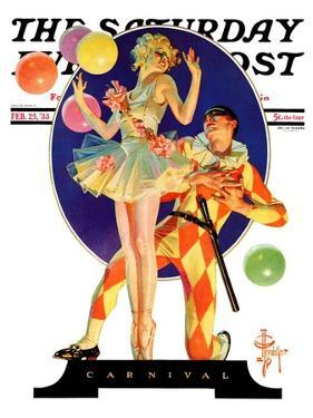 """Carnival,"" Saturday Evening Post Cover, February 25, 1933 by Joseph Christian Leyendecker"