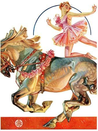 """Circus Bareback Rider,""May 14, 1932 by Joseph Christian Leyendecker"