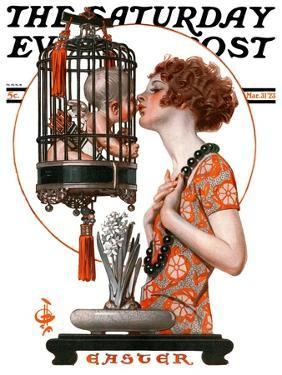 """""""Easter, 1923,"""" Saturday Evening Post Cover, March 31, 1923 by Joseph Christian Leyendecker"""