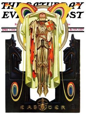 """""""Easter, 1928,"""" Saturday Evening Post Cover, April 7, 1928 by Joseph Christian Leyendecker"""