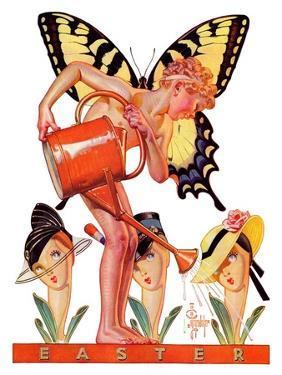 """Easter Fairy,""March 27, 1937 by Joseph Christian Leyendecker"