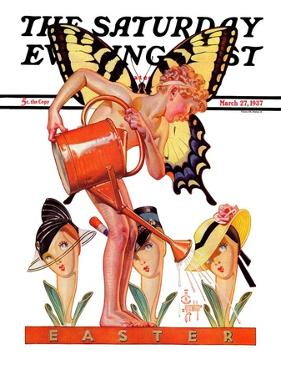 """""""Easter Fairy,"""" Saturday Evening Post Cover, March 27, 1937 by Joseph Christian Leyendecker"""