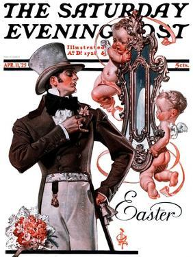 """""""Easter Finery,"""" Saturday Evening Post Cover, April 11, 1925 by Joseph Christian Leyendecker"""