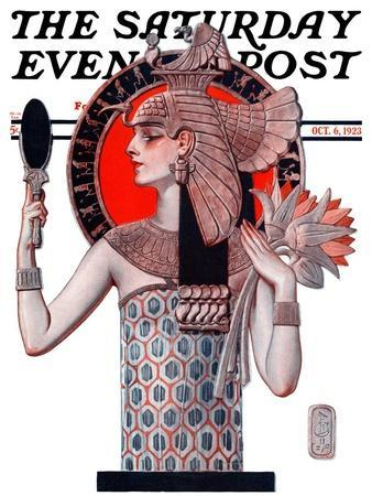 """""""Egyptian Queen,"""" Saturday Evening Post Cover, October 6, 1923"""