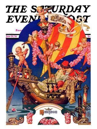 """Fantasy Honeymoon,"" Saturday Evening Post Cover, June 20, 1936 by Joseph Christian Leyendecker"